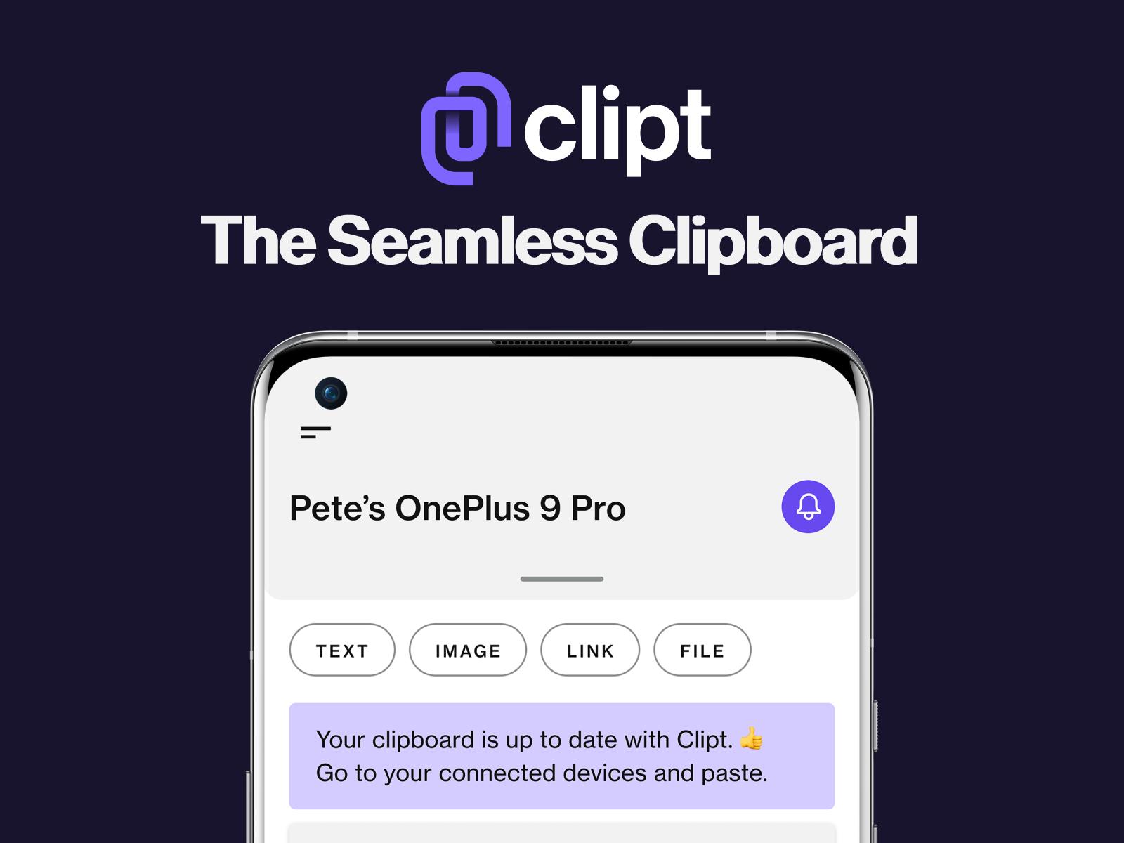 Clipt — The Seamless Clipboard